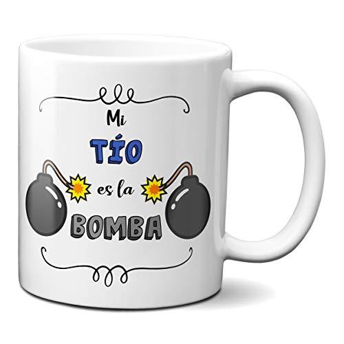 Planetacase Taza para Tios - Mi tio es la Bomba - Regalo Ori