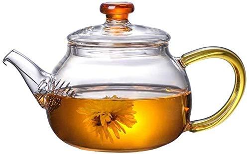 Bouilloire induction Théière transparente petite théière haute borosilicate verre 250 ml feuilles de thé haute température maintenir l'arôme de thé pour la maison bureau extérieure WHLONG