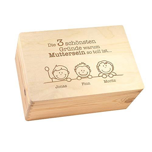 Casa Vivente Keepsake Box aus Holz mit personalisierter Gravur für Mama, 30x20 cm