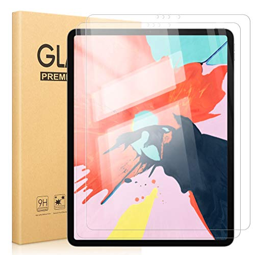 Pnakqil [2 Piezas Protector de Pantalla para iPad Pro 12.9 2021/2020 Protector de Cristal Vidrio Templado Premium Transparencia 9H HD [Anti-arañazos] [No Burbujas] para Apple iPad Pro 12.9 Pulgadas