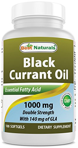 Best Naturals Black Currant Oil 1000 mg Double Strength 100 Softgels