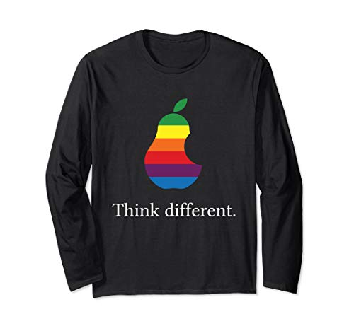 Think different Lustige angebissene Birne Langarmshirt