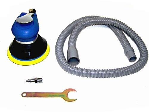 "(Best tools) 5"" Air Palm Sander Random Orbital D A Vacuum Hose Dust Bag 9000pm Sanding Tools"
