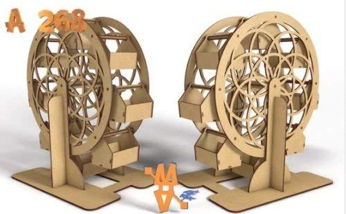 Noria de madera DM para candy bar o mesa dulce Mide 40 cm de alto x 10 cm de ancho aprox. Se envía completamente montada. ✅