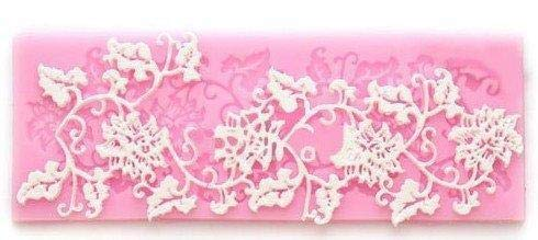 Depory Rattan Form Blume und Blatt Sillikon Kuchenform/-matte Zuckerguss Fondant Süßigkeiten Dekoration