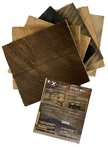 Modern Rustic Accent Wall in a Box - Reclaimed Barn Wood Inspired Wall - Sample Pack - Reversible Texture - No Paints/Stains - Safe for Interior Applications & Easy to Install (Sample Pack)