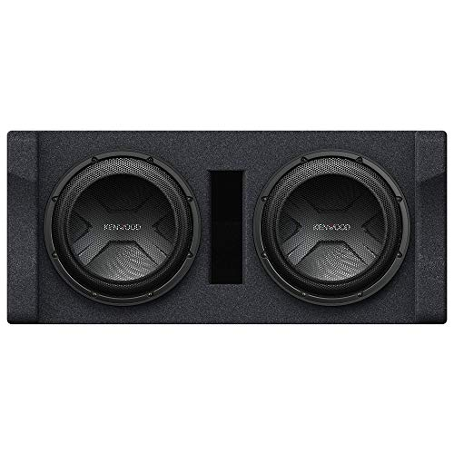 Kenwood P-W3021D Ported 2-ohm Enclosure with Dual 12  subwoofers