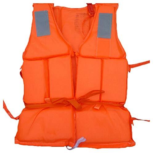 Chaleco Salvavidas, Seguridad Profesional, natación, Chaleco Salvavidas, Chaleco, Chalecos de Seguridad con Silbato para Deportes acuáticos, Deriva, Surf, Naranja