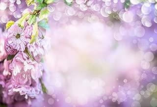 Baocicco 10x8ft Romantic Purple Flowers Backdrop Bokeh Backdrop Dreamy Light Spots Photography Background Wallpaper Decor Valentine's Day Wedding Birthday Party Girls Lover Portrait Studio Prop