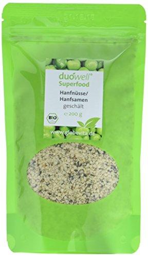 duówell Superfood - Hanfnüsse Hanfsamen geschält Bio, 1er Pack (1 x 200 g)