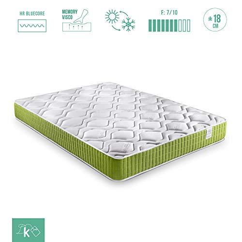 Dreaming Kamahaus Colchón Visco Green | 80x180cm | con Visco-Grafeno | Tejido Air Soft | Altura ±18 cm