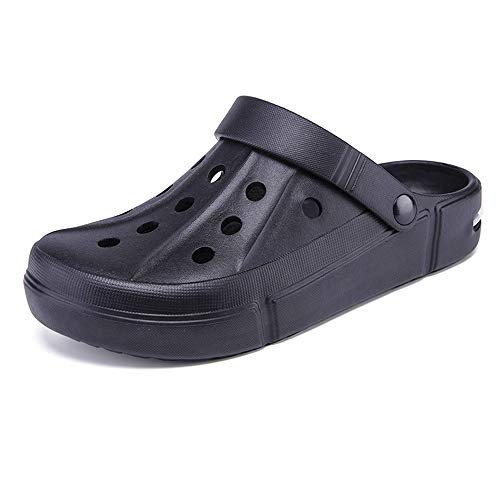 Amyneo Women Men Clogs Unisex Garden Clog Slip On Beach Sandals Water Shoes 41 Black