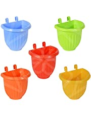 VREENY Plastic Vertical Hook Hanging Pot, Multicolour, 5 Pieces