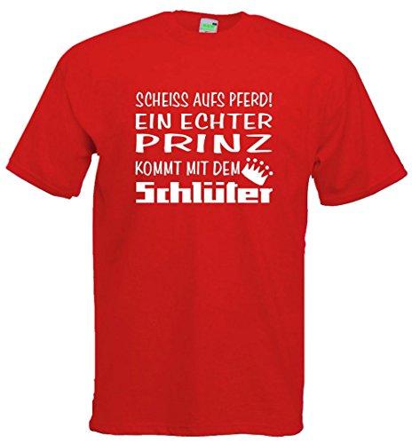 Schlüter T-Shirt | Der Prinz kommt Rot | Größe XXL