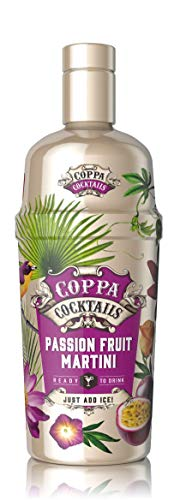 Coppa Cocktails Premium Ready-to-Drink Premixed Passion Fruit Martini, ABV 10% - 70cl