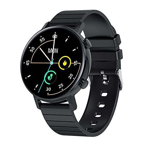 Bluetooth GPS Watch Smart Watch for Men Women, Reloj De Rastreador De Fitness Impermeable IP67 con Ritmo Cardíaco/Monitor De Sueño Cronómetro De Podómetro con Notificación De Mensaje,Negro