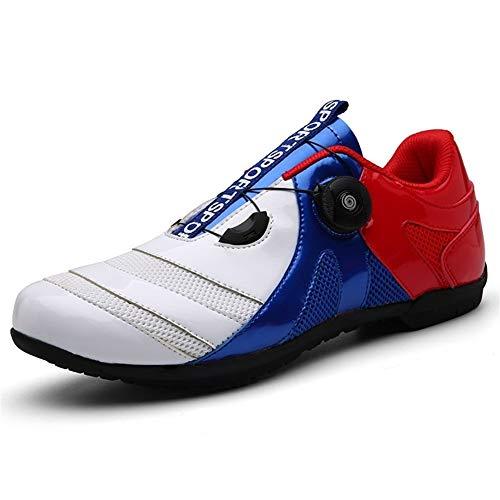 GET Zapatillas de Ciclismo SPD para Bicicleta de Carretera Profesional para Hombre, Zapatillas de Bicicleta de Carreras Ultraligeras Impermeables al Aire Libre con Autobloqueo
