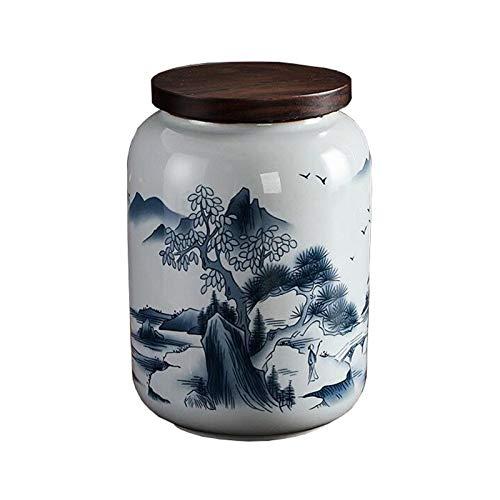 WUBINGRIZADIAN Kleine Schatulle Erwachsene Porzellan, chinesischer Stil handgemalte Landschafts-Haustierhund & Cat Erinnerung, Lagerung von Überresten zu Hause oder Begräbnisheim
