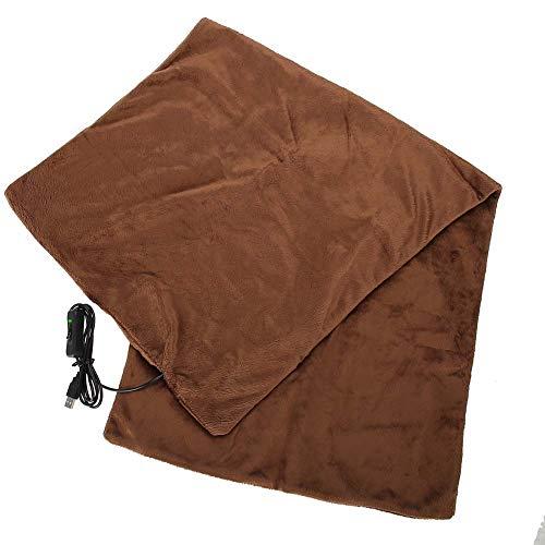 Manta calefactada Cubierta de alfombra Calentador Portátil Eléctrico Oficina Invierno cálido Cubierta...