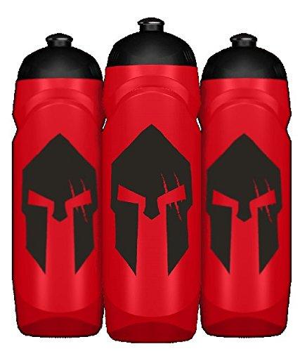 GODSRAGE Spartan Bottle Waterbottle Wasserflasche Flasche Trinkflasche Sport Bodybuilding 750ml Fassungsvermögen