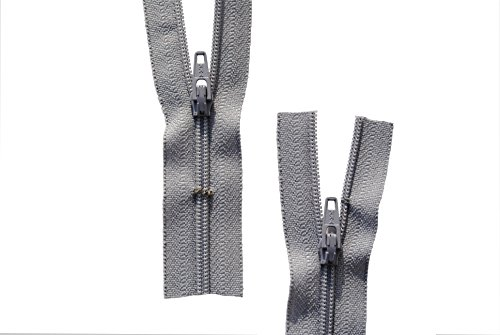 Reißverschluss hell grau hellgrau für Bettwäsche Kopfkissen Bettbezüge schließbare Länge 40 cm