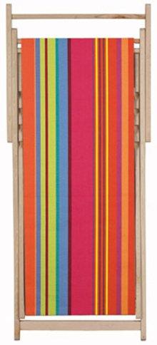 Chaise longue transat chilienne sunbrella BONBON PLUME - Les Toiles du soleil