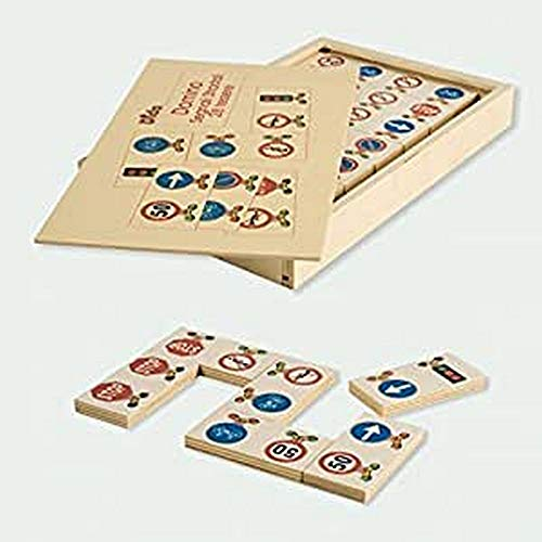 Dida - Domino Segnali Stradali 28 pz - Fare educazione Stradale Attraverso Il Gioco per Imparare Le Regole e riconoscere i segnali Stradale.