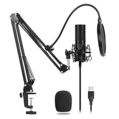TONOR USB Microphone Kit Q9 Condenser Computer Cardioid Mic for Podcast, Youtube Video, Stream, Recording Music, Voice Over