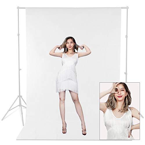 1.8 x 2.7M Bianco 100% cotone Photo Studio Video mussola Fotografia Sfondo Sfondo