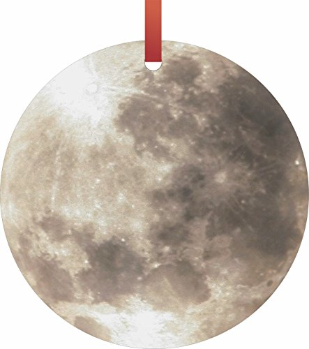 Jacks Outlet Full Moon Hanging Tree Ornament - Round Shaped - Flat - Christmas Holiday - Made in The U.S.A TM