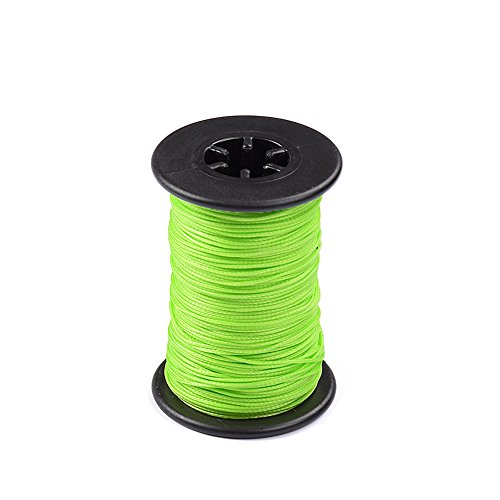Ww Zat Archery Bow String Serving Thread Wear-Resistant Material 30 Meter/Roll 0.021' Protect and Repair for Various Bow(Pack of 1 Color Green