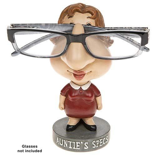JD Lustige Lesebrille Brillenhalter Ständer Sonnenbrille Geschenk bemalt Harz Statue (Aunty)