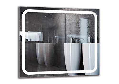 Espejo LED Premium - Dimensiones del Espejo 90x80 cm - Espejo de baño con iluminación LED - Espejo de Pared - Espejo de luz - Espejo con iluminación - ARTTOR M1ZP-58-90x80 - Blanco frío 6500K