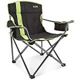 ULINE Camp Chair - Black and Lime