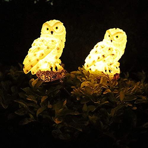 Aimiyaelec Solarlampe Eule Eulenlicht Solar, dekoratives Gartenlicht, Landschafts-Eulenlicht, Gartendekorationslicht Rasenlicht, das für Gartenrasen geeignet ist (2pcs)