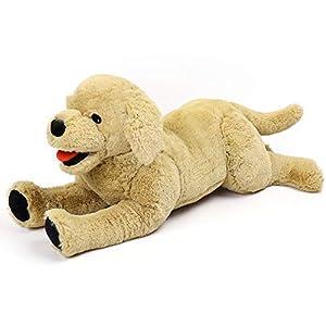 "LotFancy 20.8"" Dog Stuffed Animals Plush, Soft Cuddly Golden Retriever Plush Toys, Large Stuffed Dog, Puppy Dog Stuffed Animals, Mother's Day, Birthday Gift for Kids, Pets,Girls, Beige"