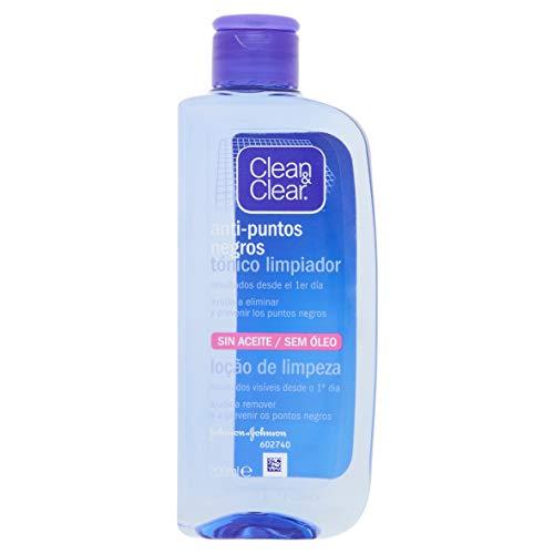 Clean&Clear - Tónico Limpiador Anti-puntos Negros, 200 ml