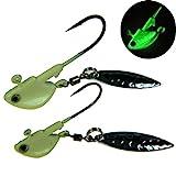 QualyQualy Jigs Esche da Pesca Che affondano cucchiai in Metallo Mare Jigging Bait (Lumino...