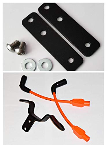 JBSporty ♧ Coil and Ignition Relocation Bracket w/ Taylor Wires and Tank lift Kit ♤ Harley Davidson Sportster, Nightster, 72, 48 Iron Roadster 883 1200 ♤ (Orange)