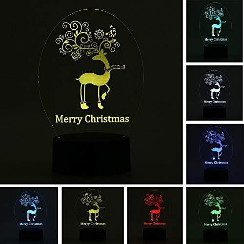 LIkaxyd Led-3D Nachtlicht Usb-Powered 7-Farben-Touch-Schalter Schlafzimmer Dekoratives Licht Für Kindergeburtstag Weihnachtsgeschenke-Bunter Fußball