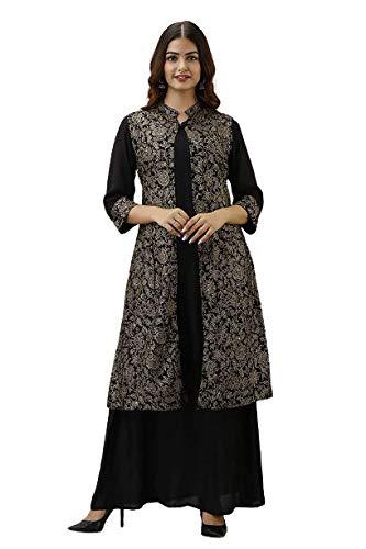 BARKHA FAB Women Rayon Printed Kurti with Ethnic Jacket Party&Festivel Wear for Women&Girls