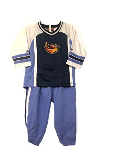 Atlanta Thrashers Light Blue NHL Toddler Long Sleeve Shirt & Pants 2 Piece Set (Toddler 2T)