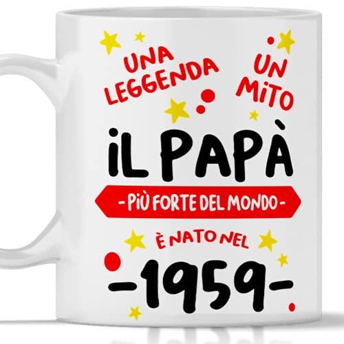 Taza de cumpleaños de 62 años papá regalo para hombre nacido en 1959