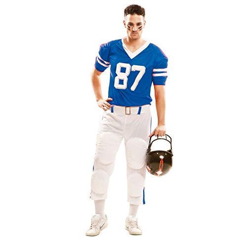 Partychimp–Costume da Giocatore di Rugby, Signor, Blu