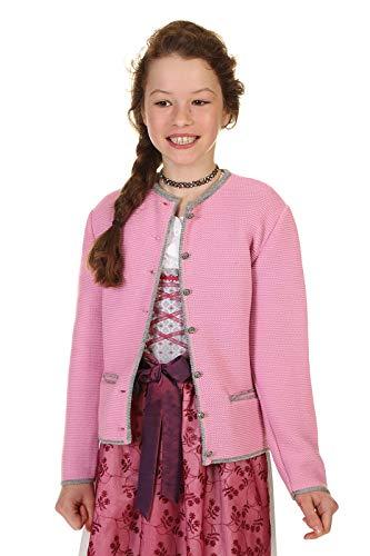 Isar-Trachten Kinder Strickjacke Dirndlstrickjacke Mädchen 47064 rosa Gr. 164