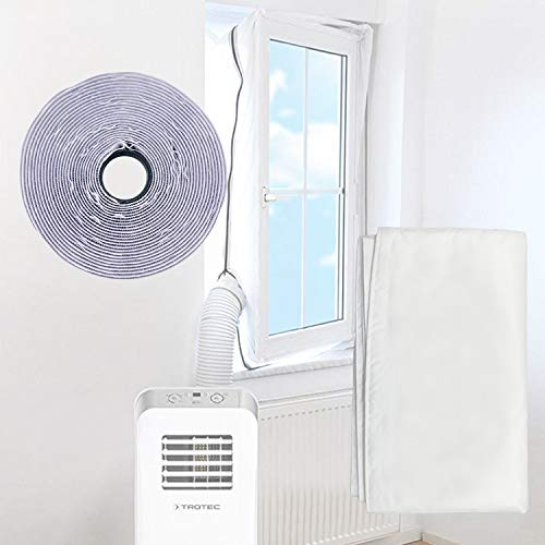 changsha Window Seal for Portable Air Conditioner and Tumble Dryer-Universal Mobile AC Unit Soft Cloth Sealing, with Zip and Adhesive Fastener Hot Air Stop, Easy to Install(300cm/118 inch)