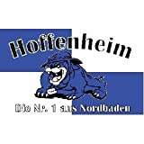 Bulldogge Hoffenheim Fussball Fahne Flagge Grösse 1,50x0,90m - FRIP –Versand®