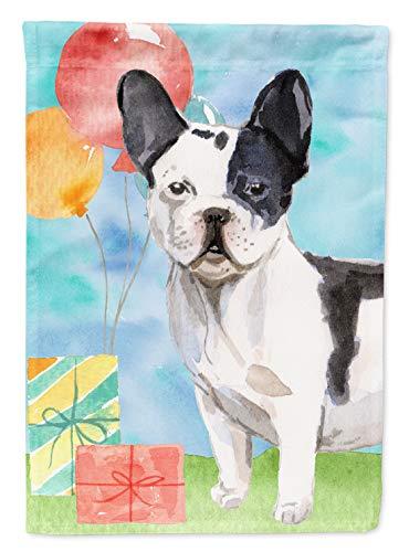 Carolines Treasures CK3241GF Happy Birthday Französische Bulldogge, Gartengröße, Outdoor-Flaggen, Mehrfarbig