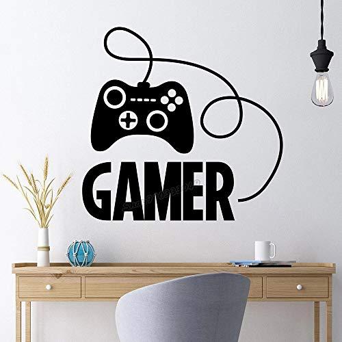 Etiqueta engomada de la pared de la sala de videojuegos del joystick del juego