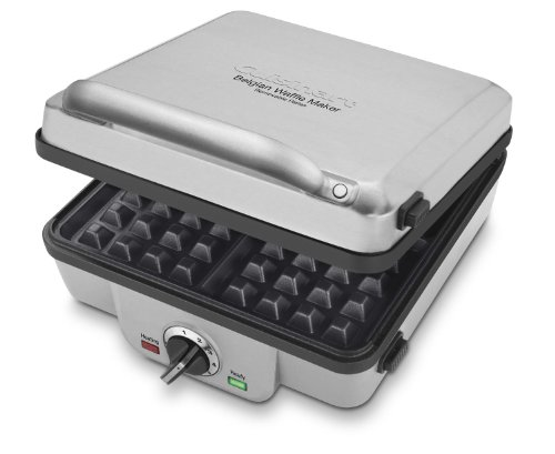 Cuisinart Belgian Maker with Pancake Plates Waffle Iron, Single, Silver